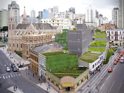 Hortas urbanas em telhados verdes