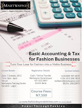 Basic Accounting & Tax for Fashion Businesses - October or November 2013