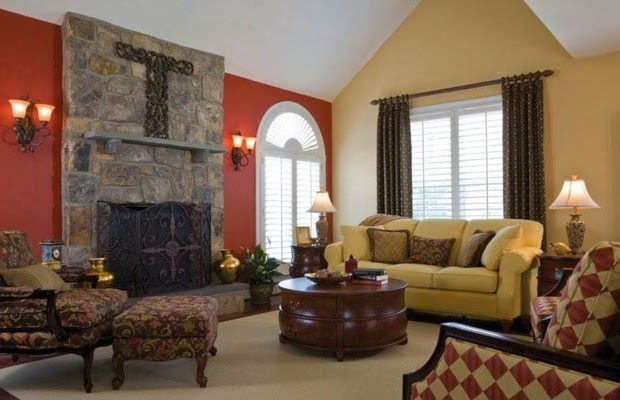 Warm Paint Colors For Living Room: Living Room With Warm Paint Colors