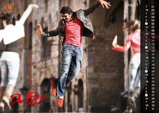 Prabhas Mirchi HD 2013 Calander Photos Download