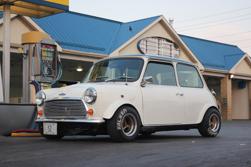 Caf racer 76 jeff s garage built b18c mini for Garage austin mini