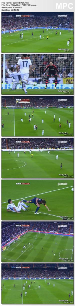تحميل مباراة ريال مدريد وبرشلونة 1/1 كاملة 30/1/2013 برابط واحد عصام الشوالي الجزيرة +2 ماى ايجى