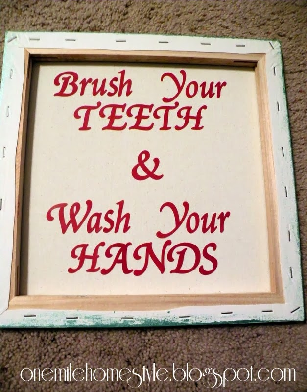 Bathroom art lettering how-to