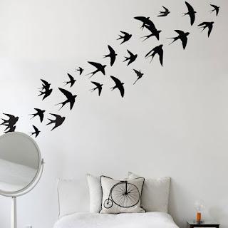 Vinilo decorativo golondrinas aves pajaros volando cdm - Vinilos de pajaros ...