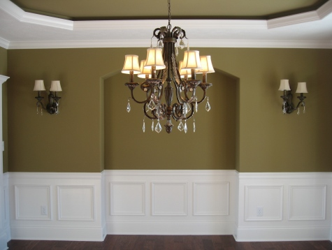 Molding in dining room