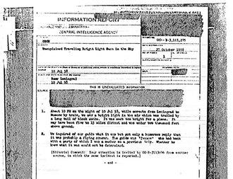 dokumen rahasia CIA tentang UFO
