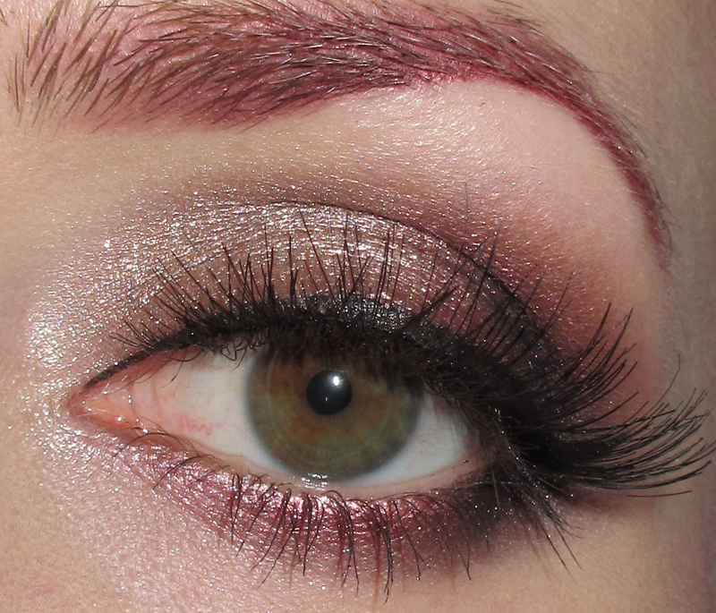 Glitter Is My Crack Champagne And Burgundy Eye Makeup Look