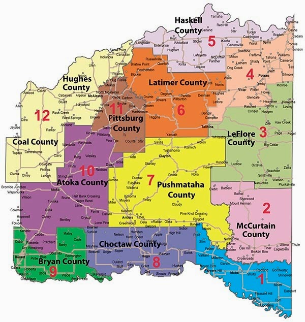 Choctaw Nation Oklahoma Map Wisconsin Map