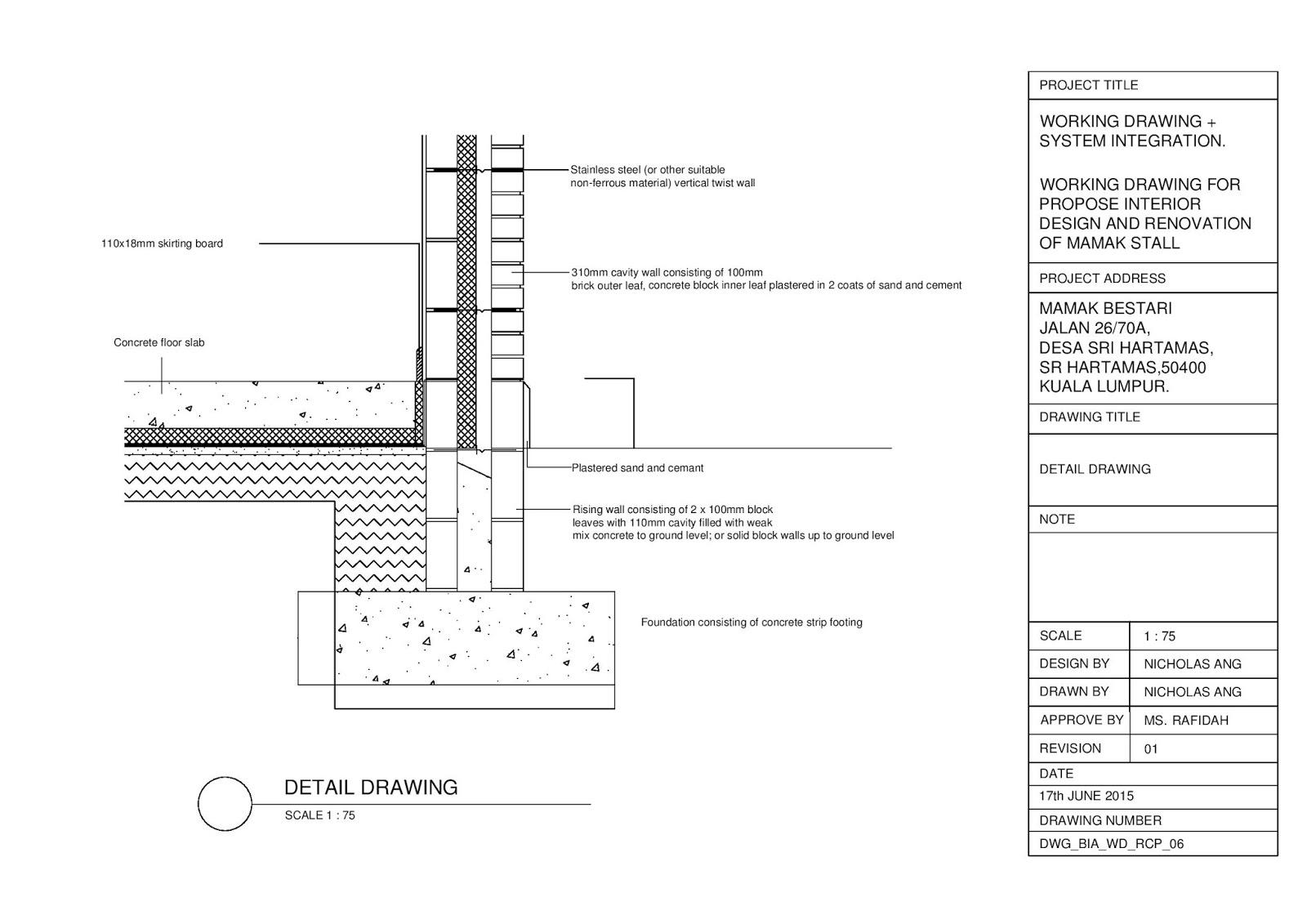 detailing & working drawings