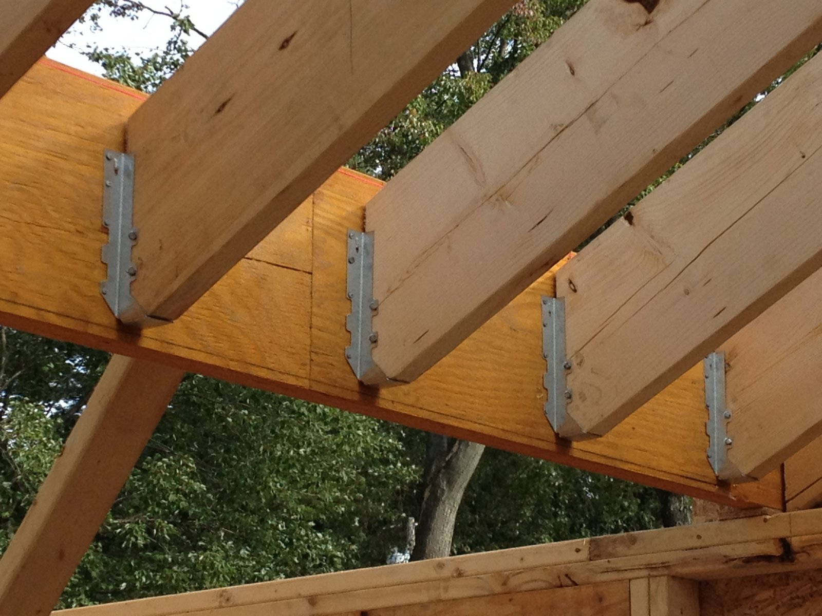 Pretty good lake house roof sheathing starts for Rafter beam