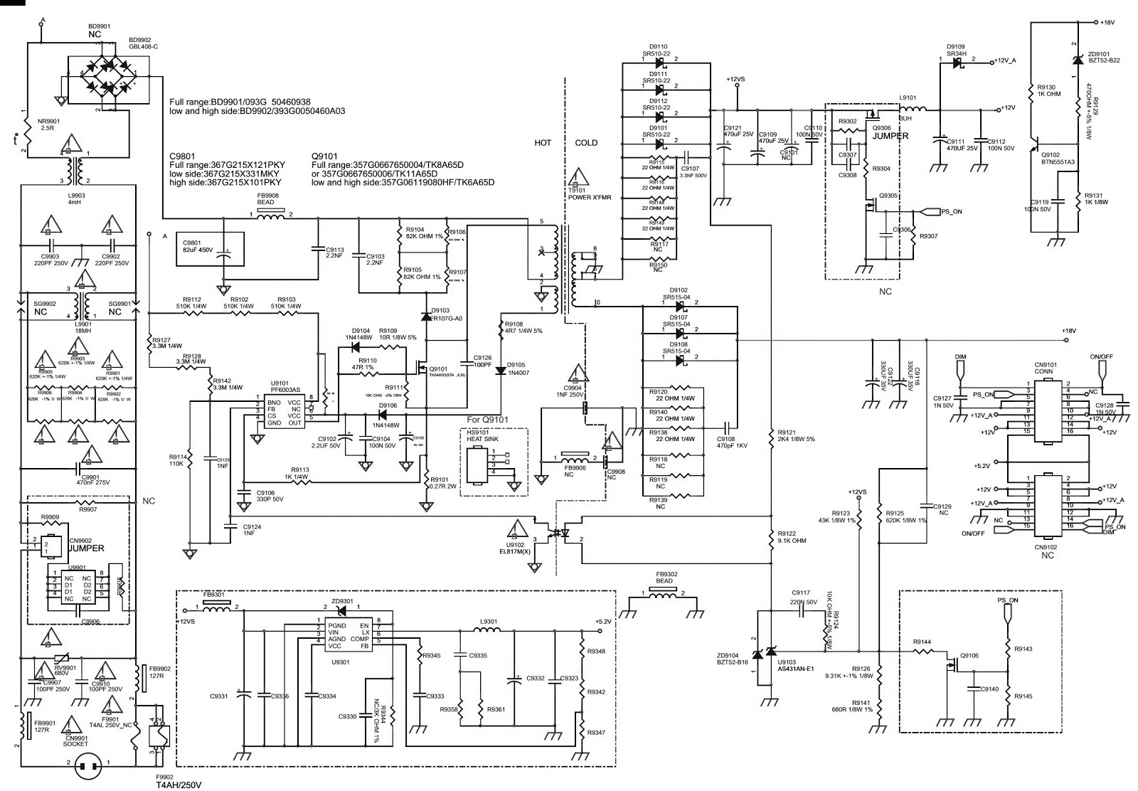 philips lcd tv smps circuit diagrams
