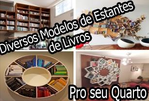 estantes de livros criativas para seu quarto