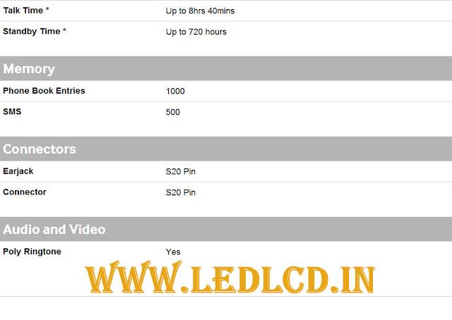 Samsung Guru 1200 specifications