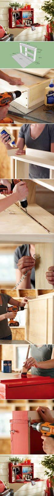 Prateleira reutilize madeira