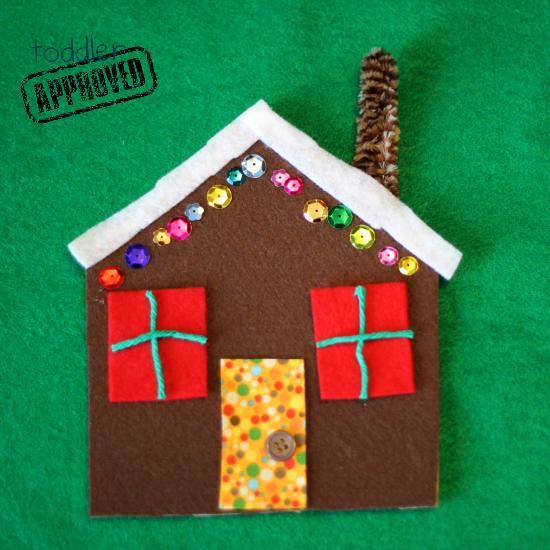 Toddler approved christmas crafts easy felt gingerbread for Felt christmas crafts for kids