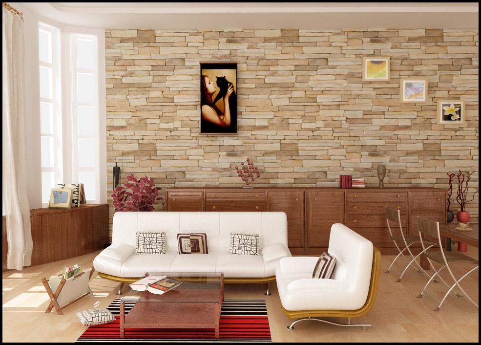 Acabamentos de parede em salas ideias decora o mobili rio - Decorar paredes con piedra ...