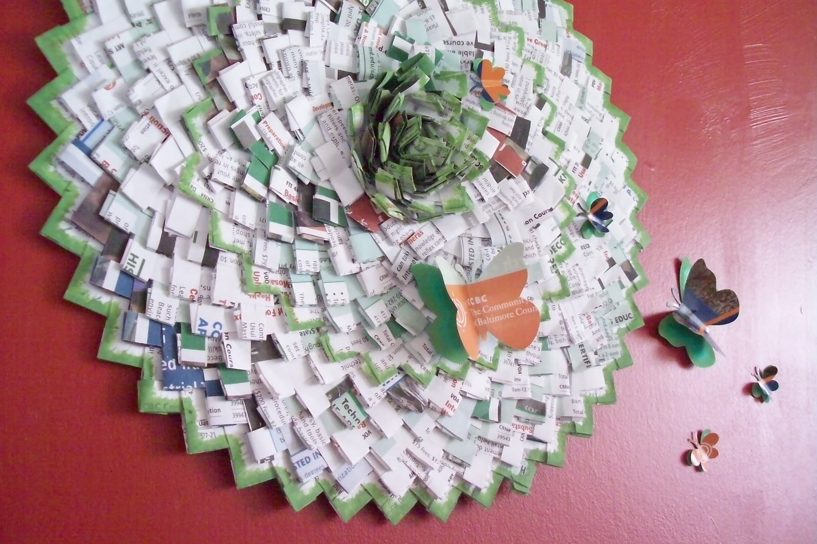Recycled crafts the image kid has it for Recycled flower art