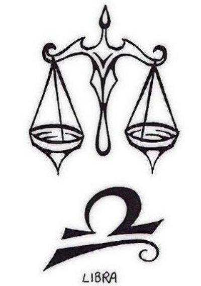 Libra Zodiac Symbol Tattoo Design