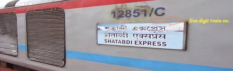 Train no. 12851 Shatabdi Express