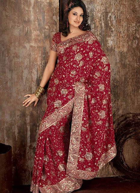 Trendy Indian Bridal Saree Designs