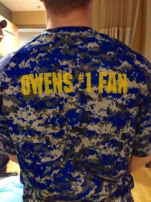 *Owen's #1 fan #grammarfail
