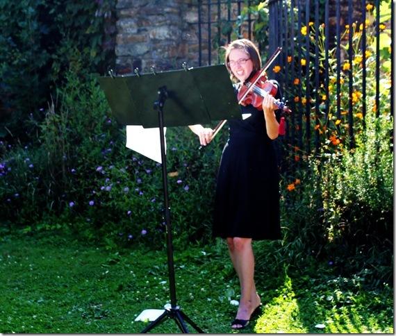 Playing the violin at Frick Park Environmental Center