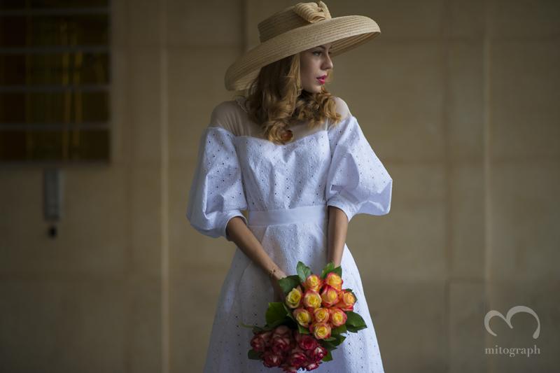 mitograph Lidia Metelskaya wearing Ulyana Sergeenko 2014 Paris Fashion Week Haute Couture Street Style By Shimpei Mito