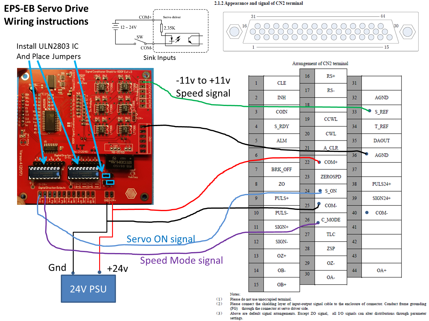 Thanos 6dof Motion Simulator Electronics Zero Speed Switch Wiring Diagram Sink Output Servo Enable Signal And To Completely Stop The Motors When Kill Emergency Is Pressed
