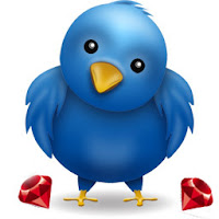 twitter logo imagen 3D