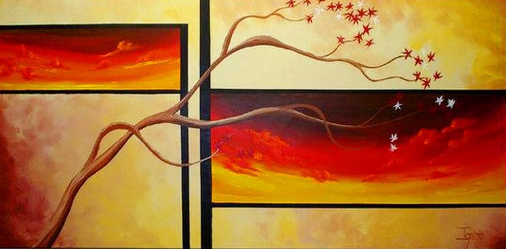 Cuadros modernos pinturas y dibujos cuadros f ciles de - Pintar en lienzo para principiantes ...