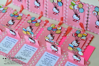 handmade invitations candyland hello_kitty invitaciones convite