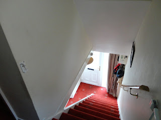 The stairs and hall from the top of the stairs