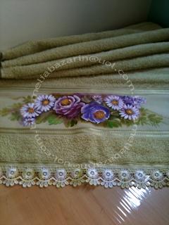 toalha com pintura em tecido