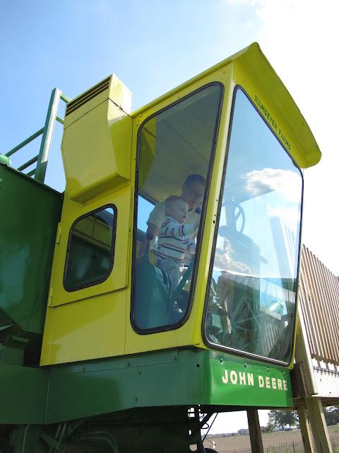Porter & Daddy in the John Deere Tractor