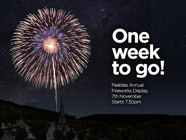 Peebles Annual Fireworks Display flyer for 7th November 2015.
