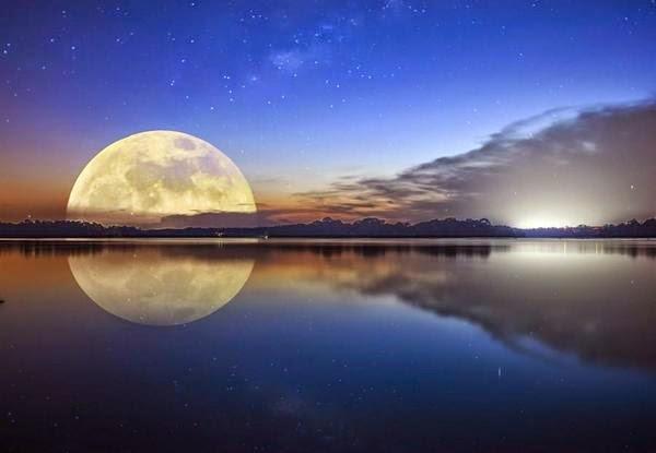 Le reflet de la lune sur mon portrait for Miroir sur la lune