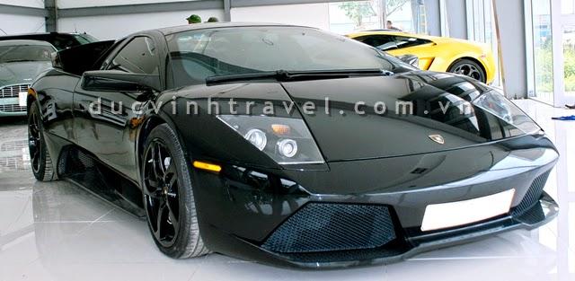 Cho thuê siêu xe Lamborghini Mucielago đen
