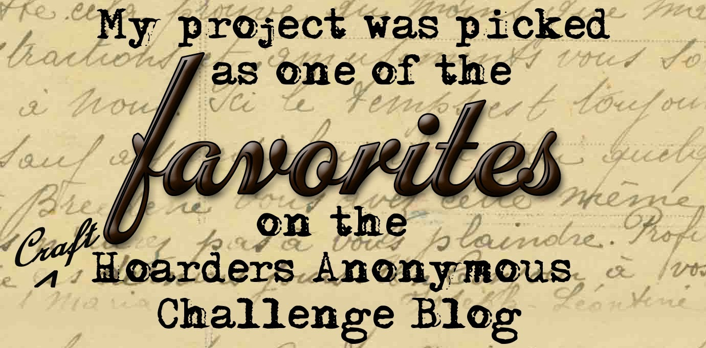 Favorited Craft Hoarders Anonymous Sept 2014