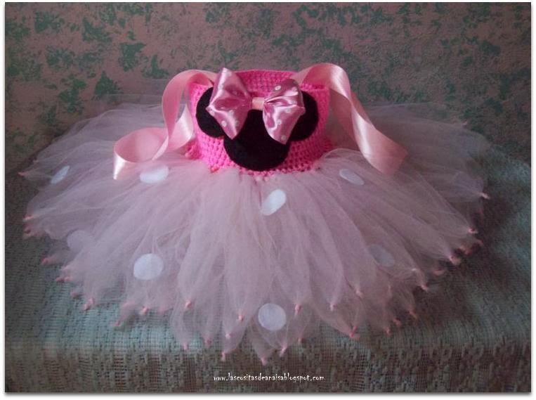El taller de Anaisa: Vestido en Tul y Crochet para Bebita ...