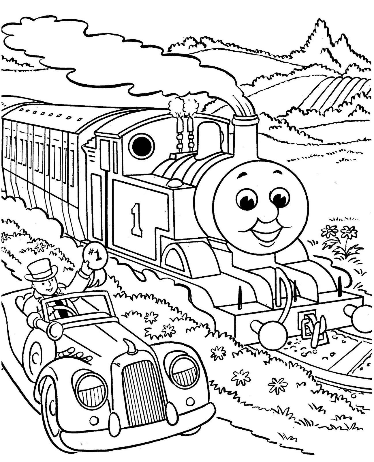 Schede ed attivit didattiche del maestro fabio per la for Thomas the train coloring book pages