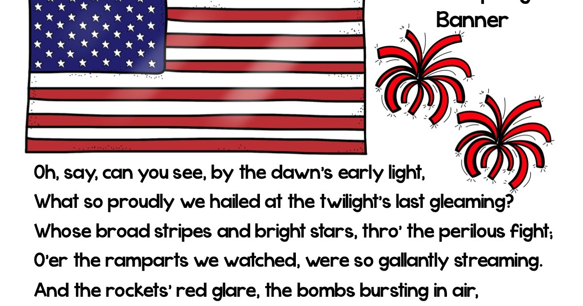 Lyric star banner lyrics : Light Bulbs and Laughter: The Star Spangled Banner's Birthday!