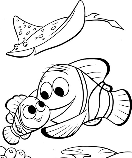 Pin Dory Fish Coloring Pages On Pinterest