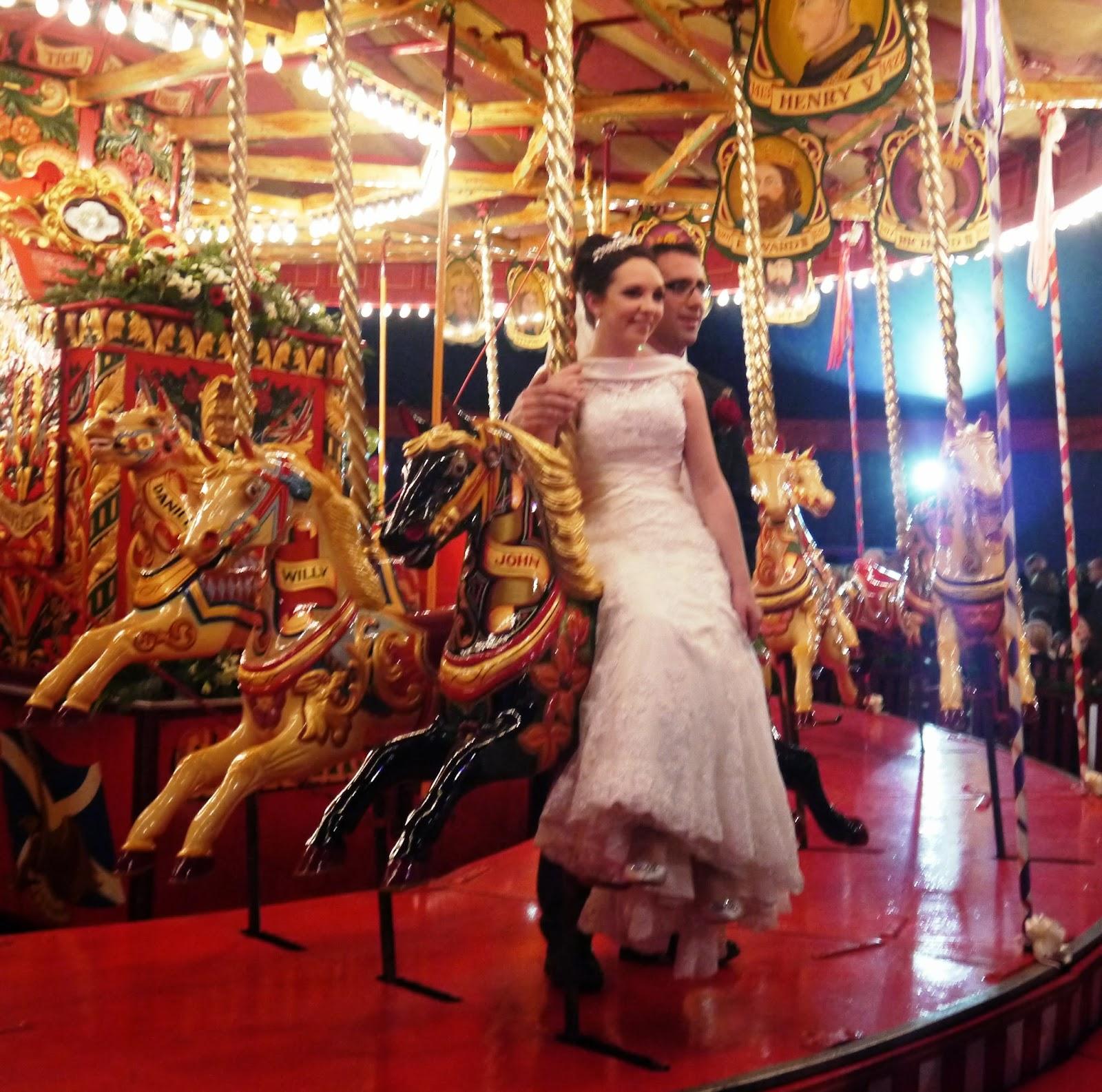 Carters Steam Fair Wedding - Bride and Groom
