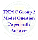 TNPSC Group 2 Model Question Paper