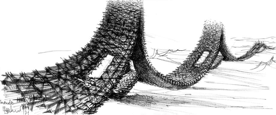 Les dessins de claude parent architecte cool in the pools - Claude parent architecte ...