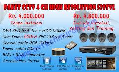 PAKET CCTV 4 CANAL AVTECH