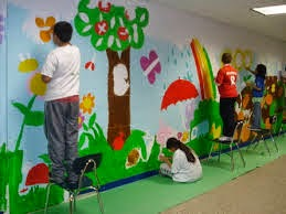 Creative ideas innovative images for classroom for Define mural painting