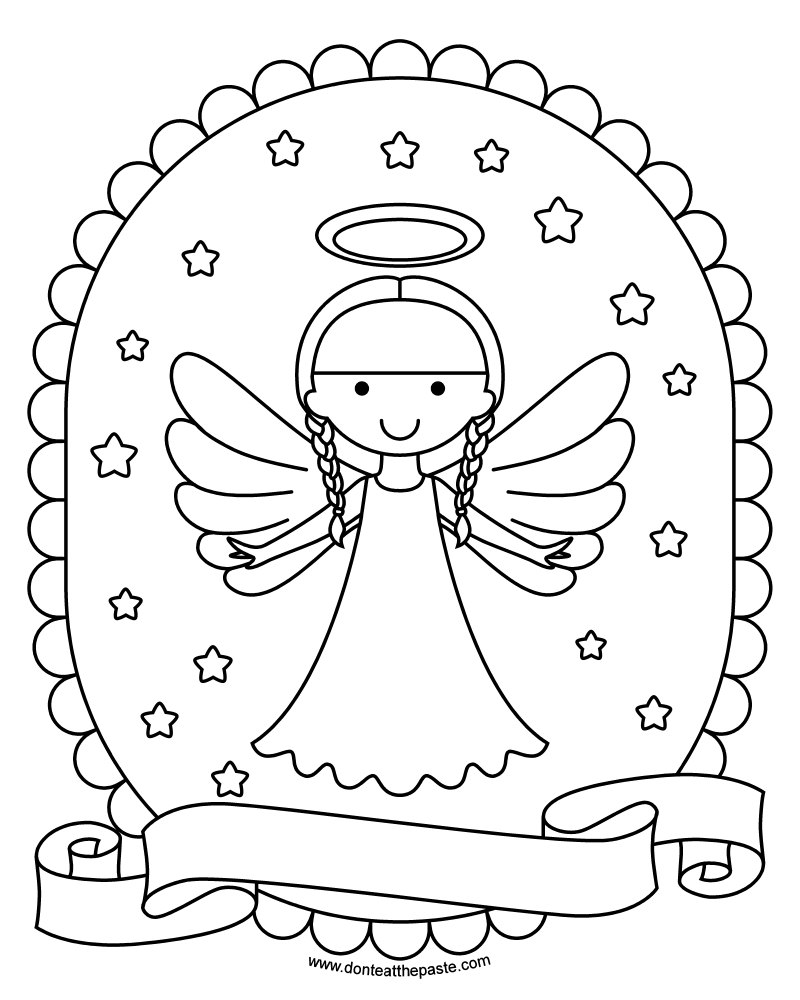 printable detailed angel coloring pages - photo#24
