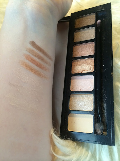 essence bronzing babe eyeshadow palette swatches