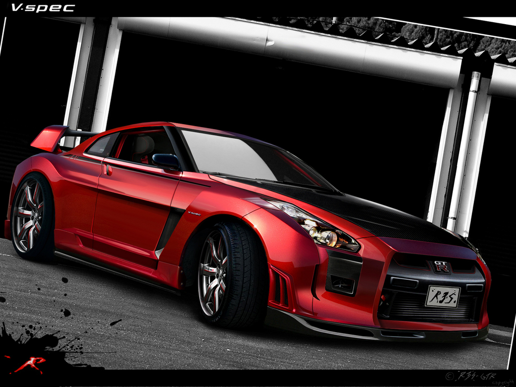 Nissan Gtr Red Wallpaper HD